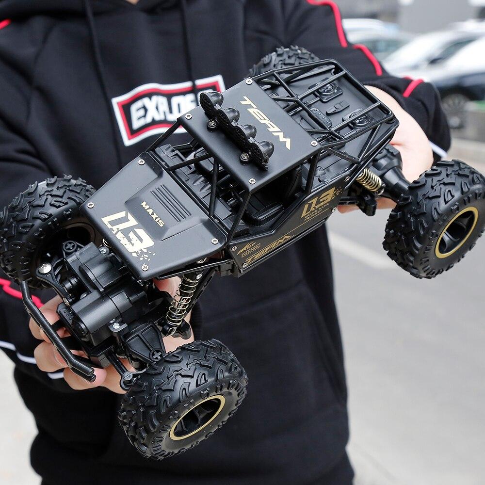 Coche RC 1:16 Mini 4WD Rock rastreadores coche motores dobles conducir Bigfoot coche de Control remoto modelo de coche- vehículo de juguete