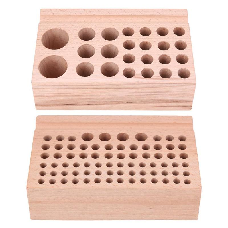 Tool Cases Tool Organizers Diy Tools Solid Wood Storage Table Rack Tool Rack Leather Punch Printing Engraving Tool Storagetable Tool Case 76 Holes 24 Holes Pure Whiteness