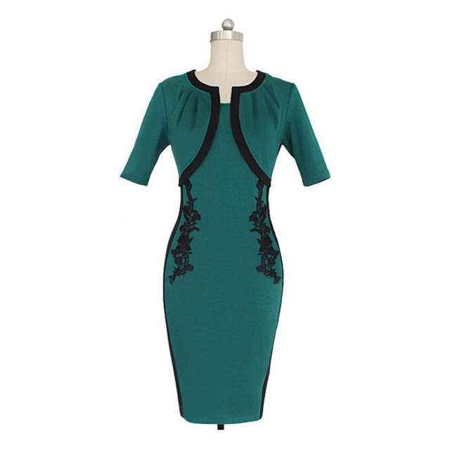 Kostenloser Versand Mode Frauen Elegante Partei Kleid Kurzen Ärmeln ...