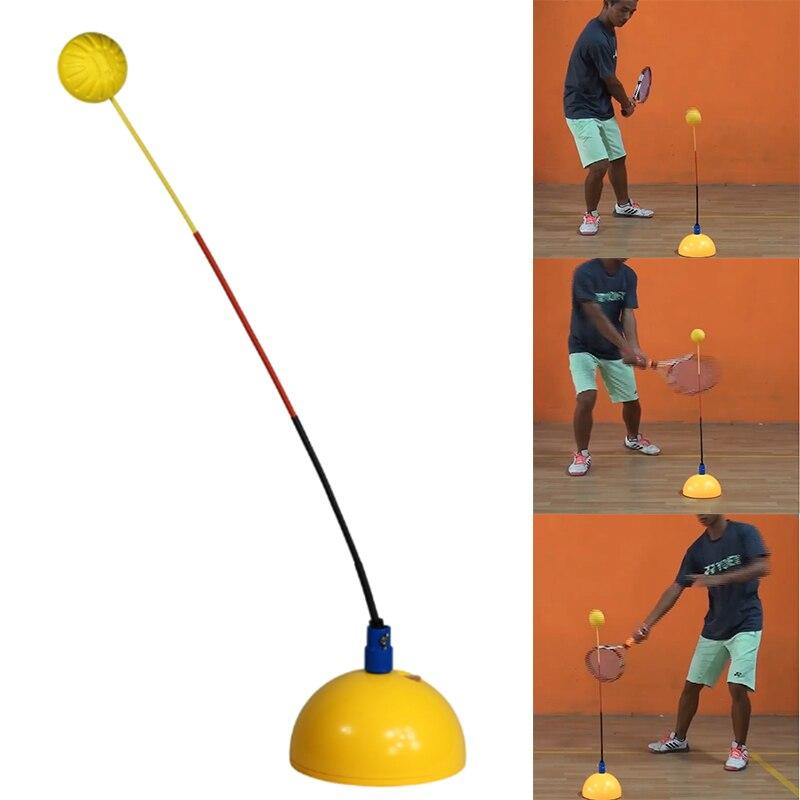 נייד טניס אימון כלי מקצועי עיסוק מאמן סטריאוטיפ נדנדה כדור מכונה למתחילים לימוד עצמי אבזרים
