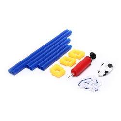 Цель Сообщение Чистая набор + насос детский спортивный indoor подарок на день рождения Пластик складной мини Футбол игр на открытом воздухе