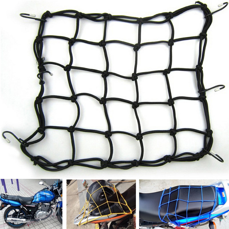 Hot Sale High quality Universal Bungee Cargo Net for Motorcycle Bike ATV Offroad Board GoCart accessories Helmet / Fuel tank Net