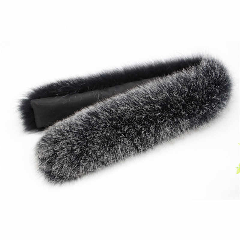 100% Natural Genuine Fox Fur Scarves Collar Accessories Real Fox Fur Collars Female Fox Fur Collar Ring Scarf Women 70CM L39