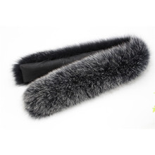 100% Natural Genuine Fox Fur Scarves Collar Accessories Real Collars Female Ring Scarf Women 70CM L39