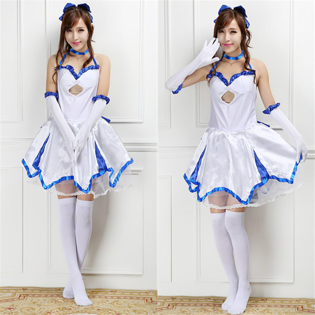 Fate ZERO Saber Lily Cosplay Costume For Women Anime Clothes Summer Sailor Dress Party Carnival