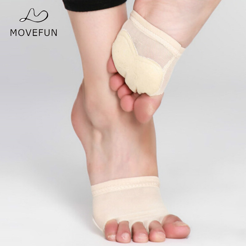 movefun feet Protector Professional <font><b>Ballet</b></font> Dance Socks 1 Pair Belly Dancing Foot Thong Toe Pad Dance Accessories <font><b>Paws</b></font> Gym Shoes