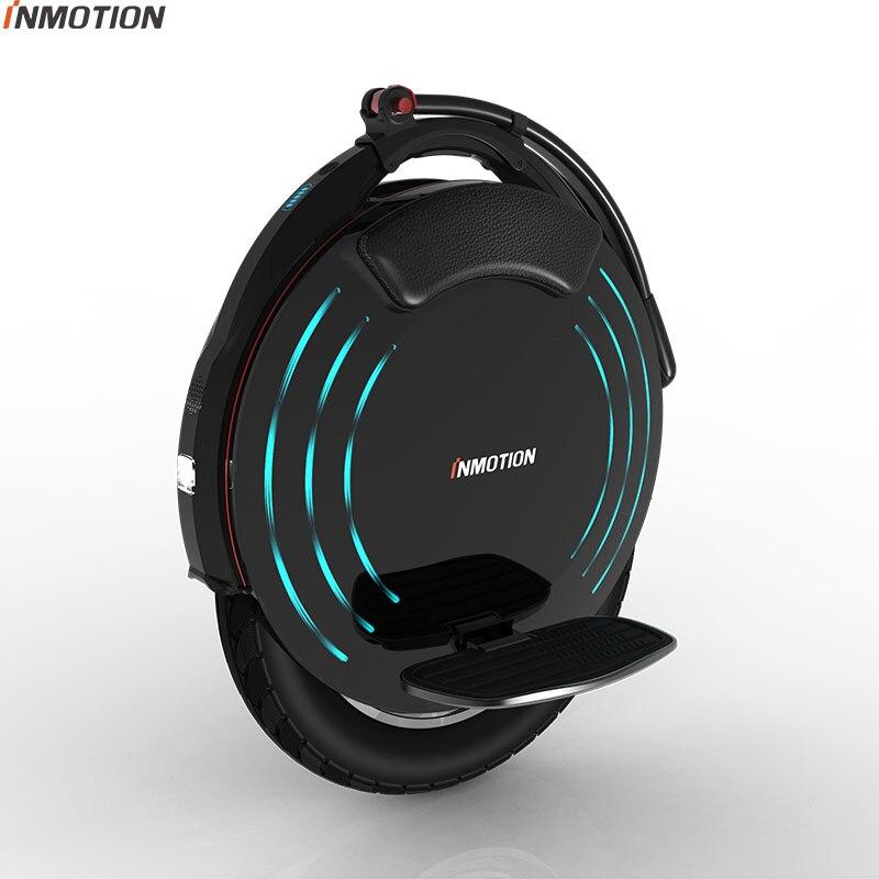 Original INMOTION V10F auto équilibrage électrique Scooter 2000 W intégré poignée monocycle Hoverboard avec lampes décoratives Longboard
