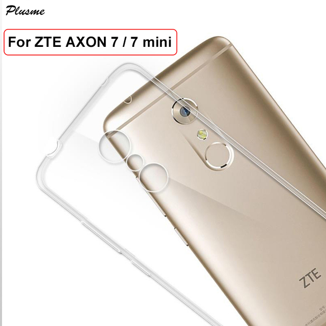 buy online f4c07 2388e Plusme For ZTE Axon 7 7 mini Case Soft TPU Silicone Ultra Thin Clear  Shockproof Case For ZTE Axon 7 A2017 Protective Back Cover-in Fitted Cases  from ...