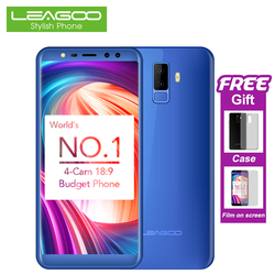 LEAGOO M9 3G Smartphone 5.5 Inch 18:9 Full Screen Mobile Phone Android 7.0 2GB+16GB Quad Core 4 Cameras Fingerprint Cell Phones