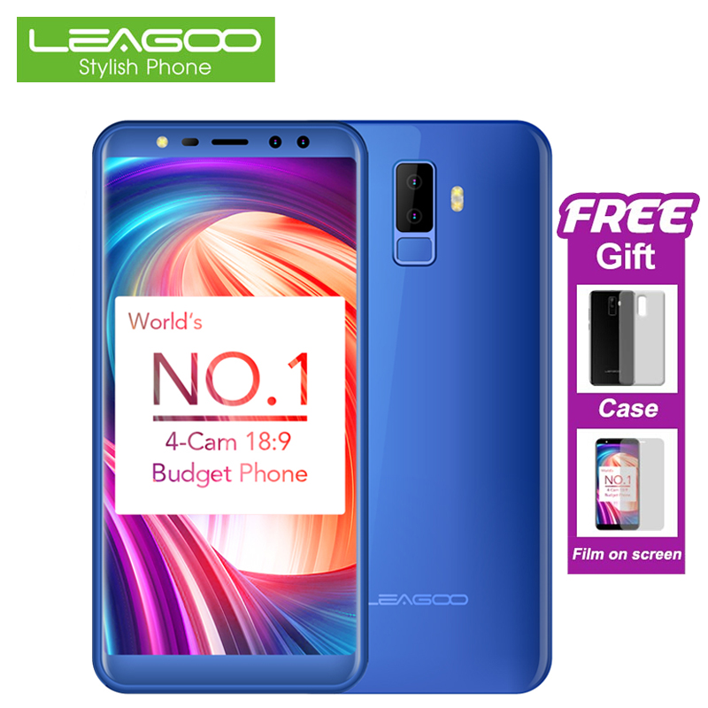 LEAGOO M9 3g Smartphone 5,5 zoll 18:9 Full Screen Handy Android 7.0 2 gb + 16 gb Quad Core 4 kameras Fingerprint Handys