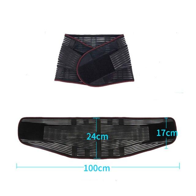Lumbar Back Spinal Spine Waist Brace Support Belt Corset Stabilizer Cincher Tummy Trimmer Trainer Weight Loss Slimming Belt 5