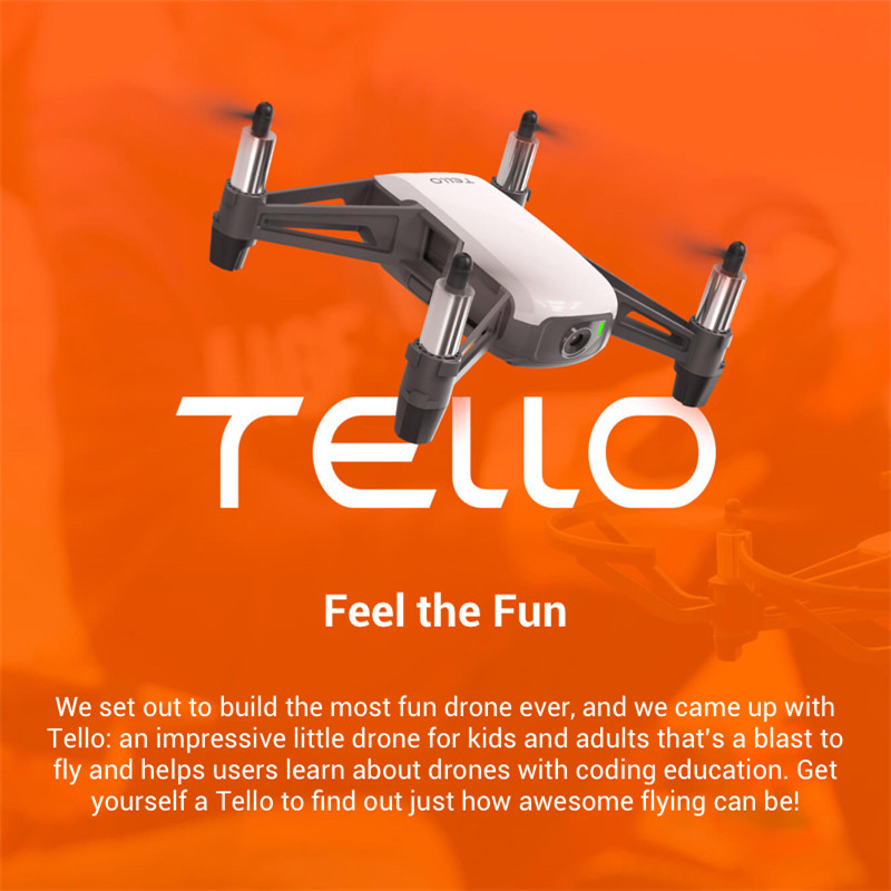 DJI Tello with 5MP HD Camera 720P WiFi FPV Mini RC Quadcopter Drone Folding Toy BNF Boost Fly More Combo 8D Flips STEM Coding