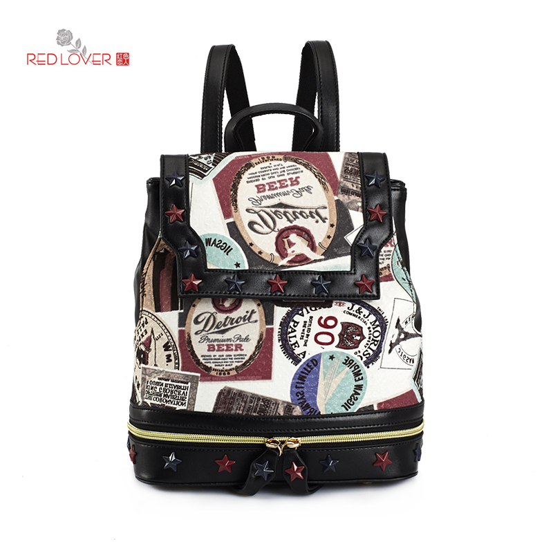 Brand New Women's backpack PU leather Flap shoulder bag Lady knapsack Cloth bags vintage school bag cover bags new 2016 top brand cloth school bags for