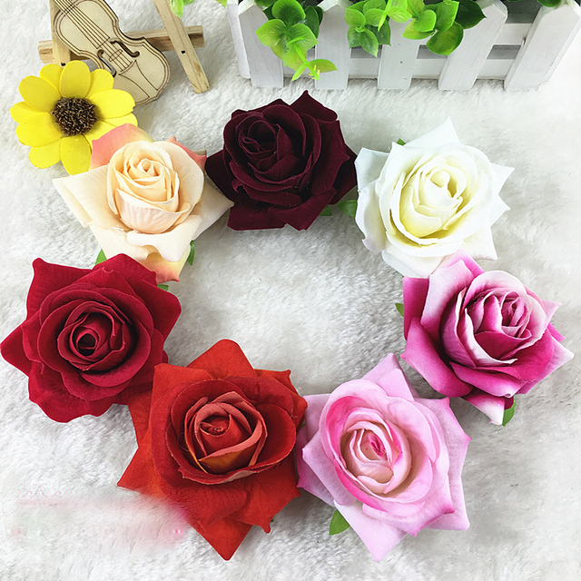10pcs 7cm artificial decorative rose silk flower heads flower buds 10pcs 7cm artificial decorative rose silk flower heads flower buds artificial flower for home garden wedding mightylinksfo Image collections