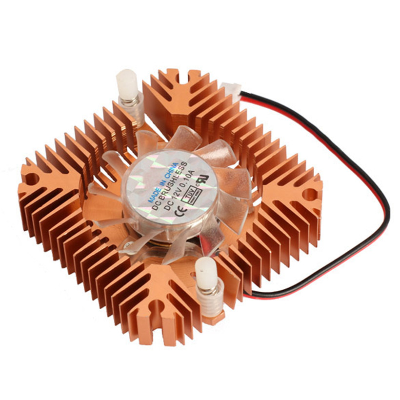 55mm Aluminum Cooling Fan Heatsink Cooler for PC Computer CPU VGA Video Card Bronze EM88 computer vga cooler radiator with heatsink heatpipe cooling fan for asus strix gtx960 dc2oc 4gd5 grahics cards cooling system