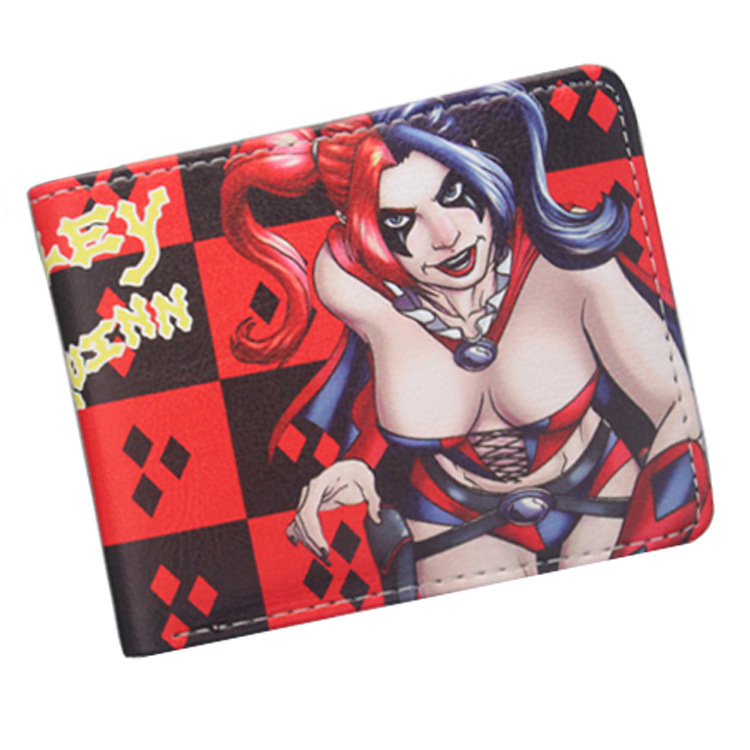 DC Comics Suicide Squad The Joker Harley Quinn cosplay short Wallet PU coin card holder men women leather purse процессор intel cpu pentium 925 930 3 0g