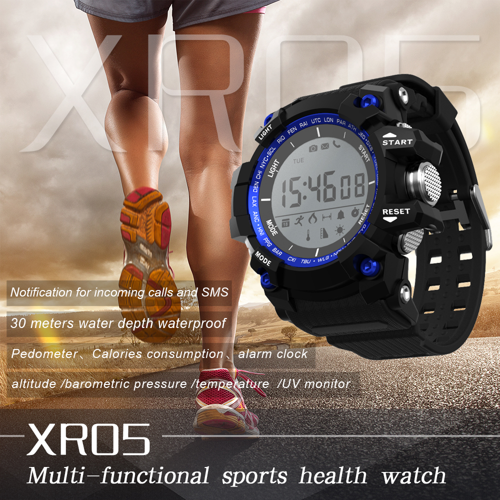 Smartch IP68 Professional Waterproof Bluetooth Smart Watch XR05 for Summer Swimming Activity with Altitude Meter U