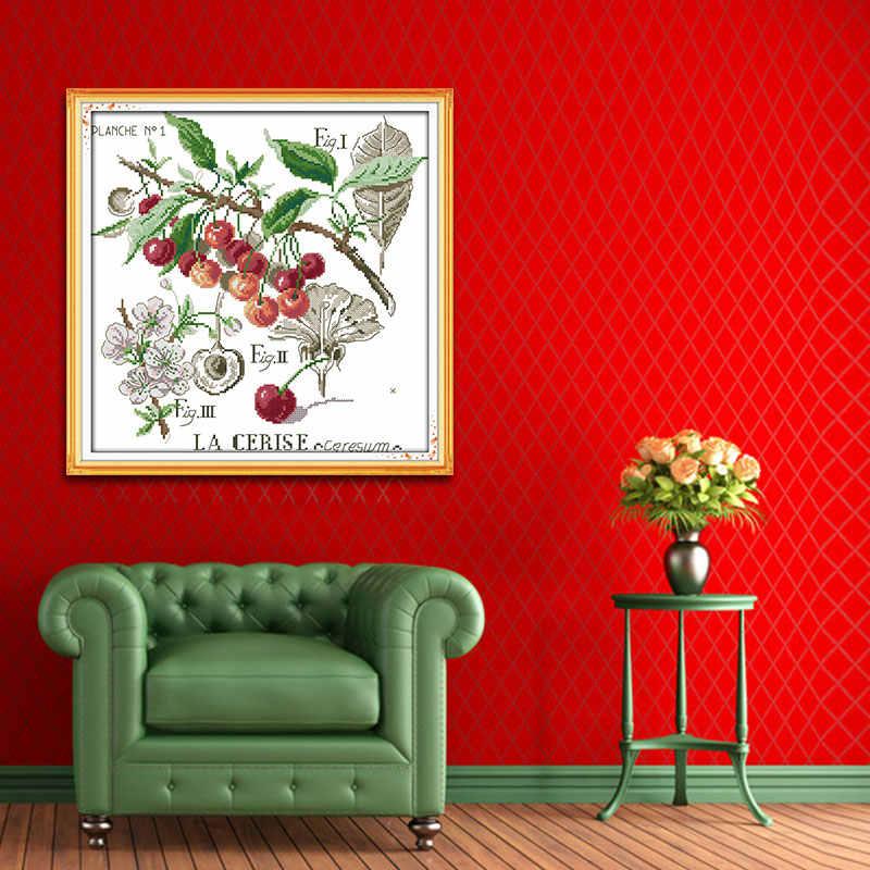 Радость воскресенье Cherry китайской вышивки крестом комплект DIY напечатаны Счетный печатных Вышивка Крестом Картины 11ct14ct рукоделие Вышивка украшения дома