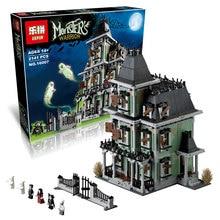 EN STOCK EN STOCK Nouveau LEPIN 16007 2141 Pcs Monstre combattant La maison hantée Modèle ensemble Kits de Construction Modèle Compatible With10228
