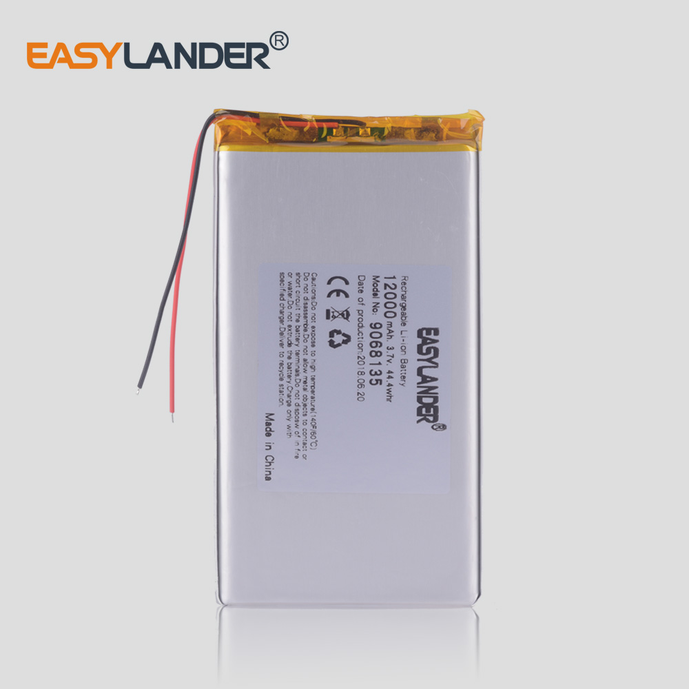 9068135 3.7v 12000mah Lithium Polymer Battery With Board For Tablet