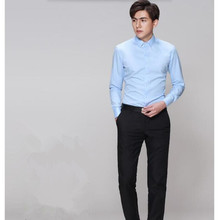 Handsome men high quality customized groom shirt formal occasions men dress shirt friends handsome simple style