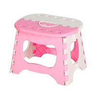 Pink Plastic Folding Stool Thicken Step Ottoman Fold Portable Home Furniture Kid Child House Picnic Convenient