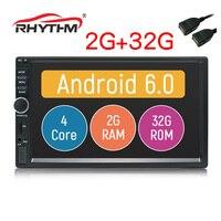 2din Автомобильная магнитола на андроид 2 Гб оперативная память 32 Встроенная авто радио gps навигации 4 ядра 7 1024x600 сенсорный экран Bluetooth Wi Fi Cam Mic