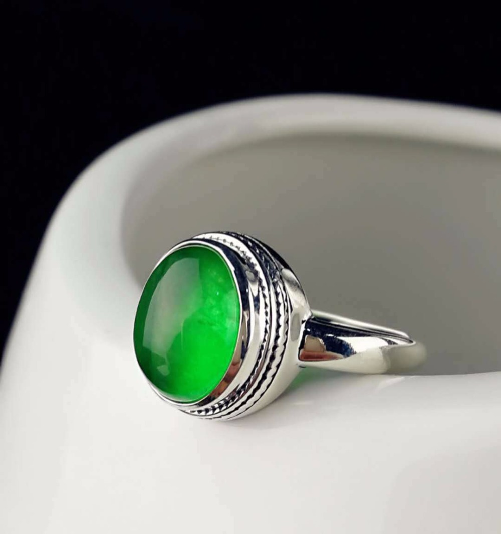 Hot Sale Fine Jewelry Perfect Zambia Natural Emerald Ring For Women With Certification Adjustable Ring