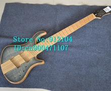 new Big John 6 strings fanned electric bass guitar in blue with elm body  +EMS free shipping F-3063