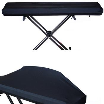 Elektryczne pianino cyfrowe osłona klawiatury pyłoszczelna elastyczna regulacja dla 61 73 76 88 klucz 66CY tanie i dobre opinie DUSTPROOFVEIL Piano Keyboard Cover Nowoczesne Poliester bawełna