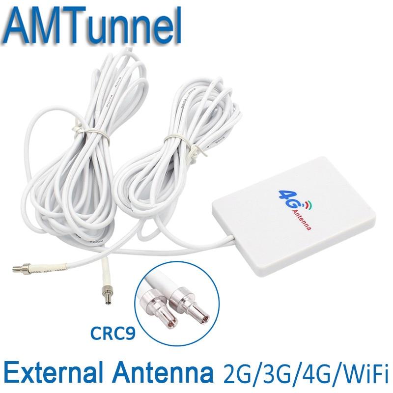 4g LTE Panneau Antenne CRC9/TS9/SMA mâle Connecteur 3g 4g Routeur Anetnna avec 3 m câble pour Huawei 3g 4g LTE Routeur Modem Aérienne