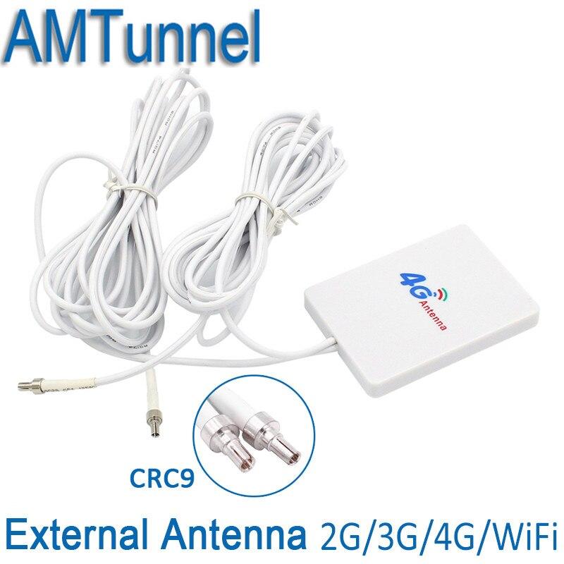 4g LTE Pannello di Antenna CRC9/TS9/SMA Connettore maschio 3g 4g Router Anetnna con 3 m cavo per Huawei 3g 4g LTE Modem Router Antenna