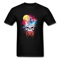 Жизнь пиратов Fabulous акварель череп футболка для Для мужчин хлопковая Футболка короткий рукав одежда Книги по искусству Дизайн корабль Ктулх...