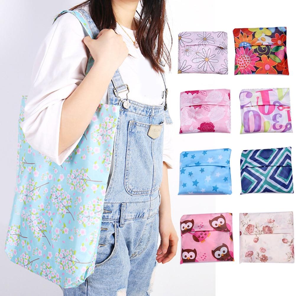 Women Gift Storage Handbags Colorful Shopping Bag Folding Tote Eco Friendly Reusable Travel