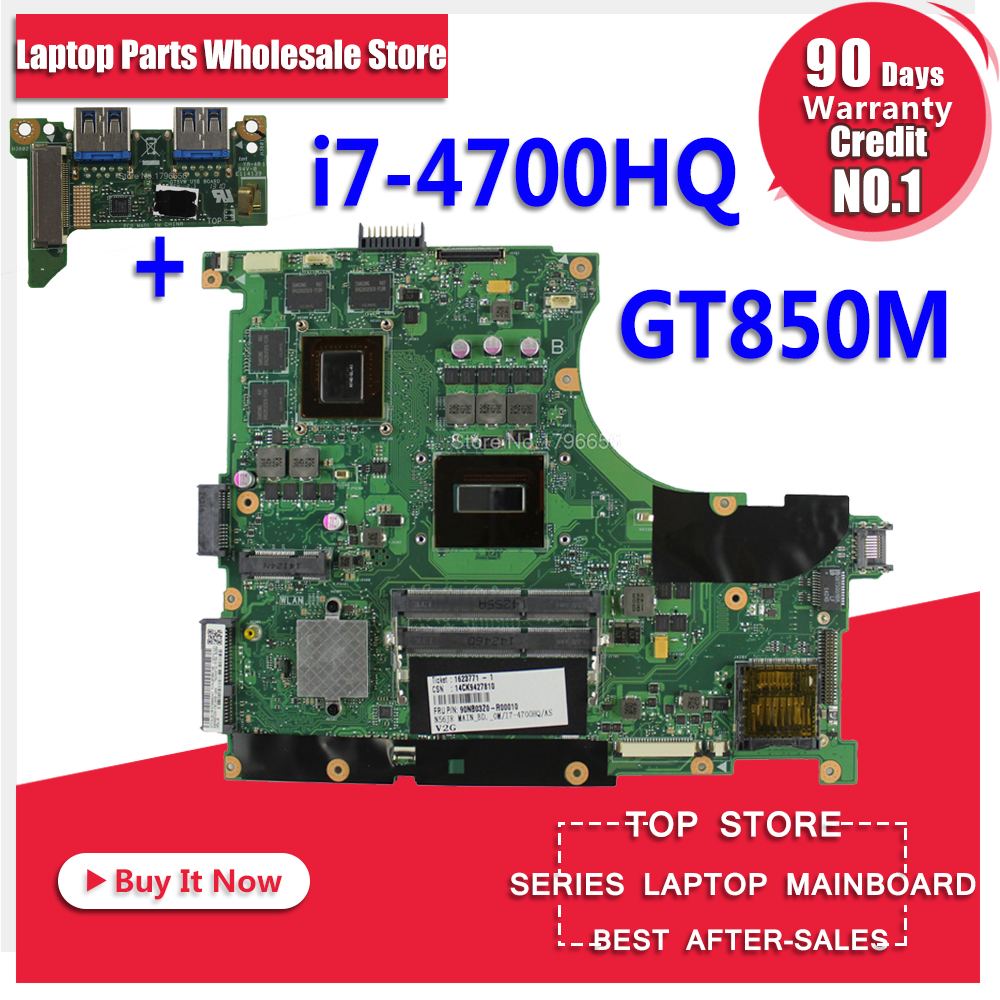Send board +N56JK REV 2.0 with GTX850M 2GB i7-4700HQ HM86 for ASUS N56JK Laptop Motherboard N56JK G56JK Mainboard 100% Tested ned 10pcs 20x20mm practical stainless steel corner brackets joint fastening right angle thickened brackets for furniture home