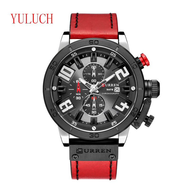 YULUCH New Arrival Top Brand Fashion Men's Sports Quartz Watch Multi-function Six-needle Timing Men's Watch Gift