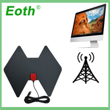 2pcs Eoth TVFox active Indoor HDTV Digital TV Surf Fox Antenna Amplifier Antena DVB-T DVB-T2 VHF UHF Antenas Signal Receiver
