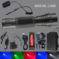 Z30 Tactical lights red / green / purple / blue / white CREE XM L T6 Led Flashlight torch camping hunting Outdoor activity lamp