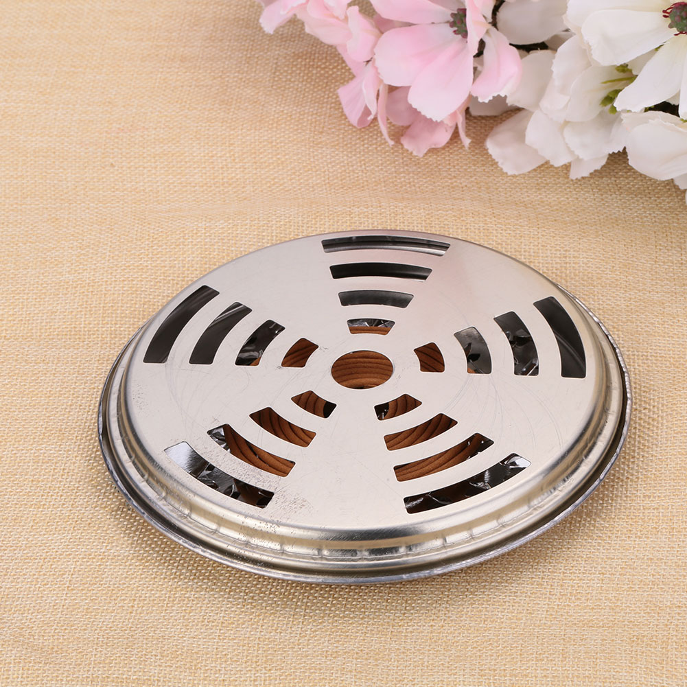Mosquito Coils Holder Large Hotel Metal Insect Repellent Rack With Cover Hot Drop Shipping