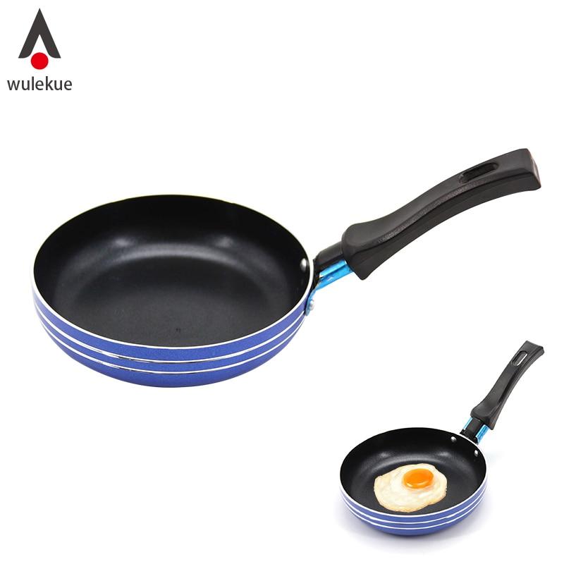 Wulekue 1 шт. синий Пособия по кулинарии сковородки антипригарным покрытием Пластик Алюминий яйцо чайник сковорода Cook завтрак горшок Инструменты