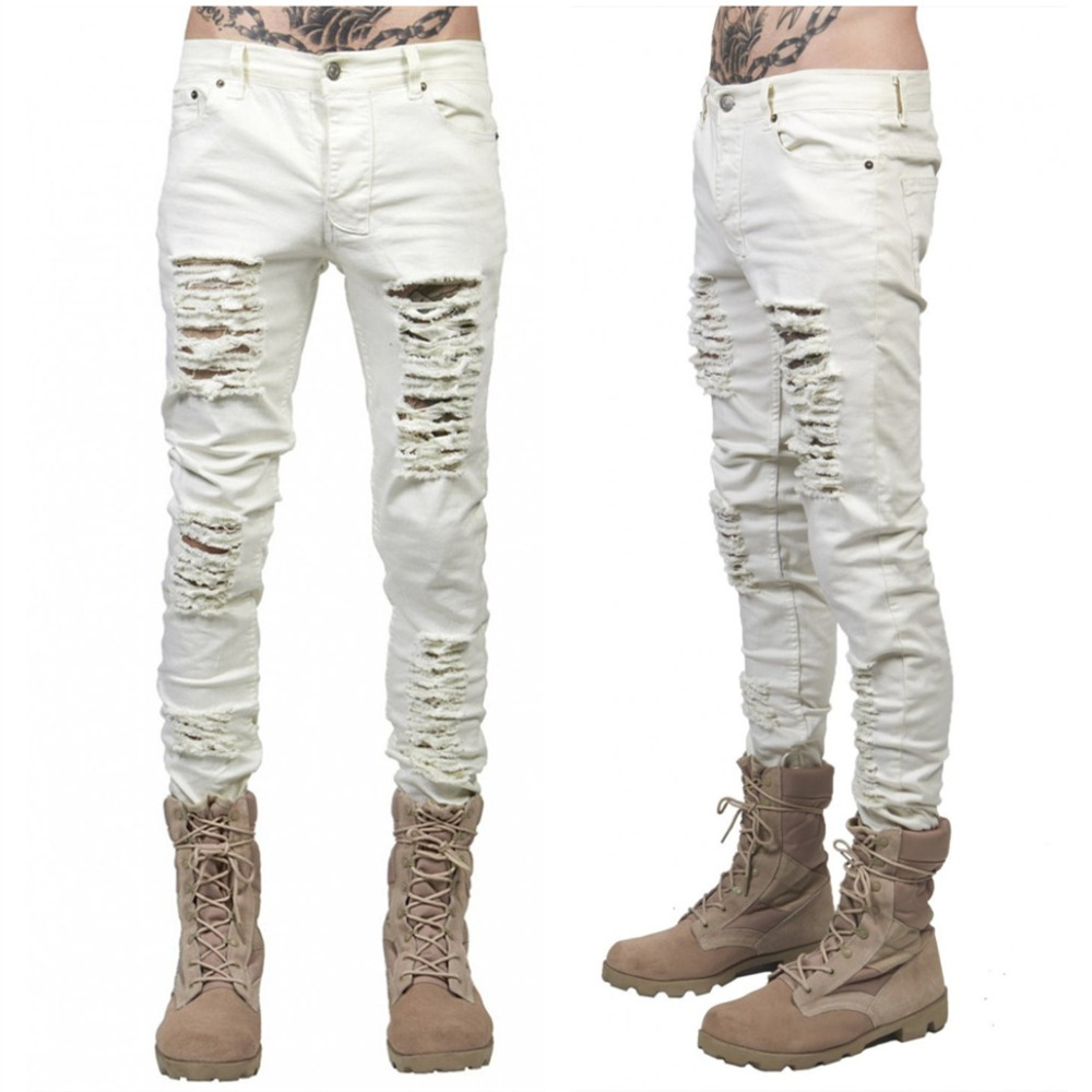 Popular White Damaged Jeans-Buy Cheap White Damaged Jeans lots ...