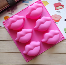Silicone cake molds 6 with plump lips pudding jelly hand made soap mold