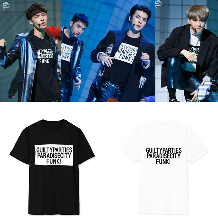 Exo Wu Xun Shi Pu Charlie M Countdown album regression of the same T support team and short sleeve