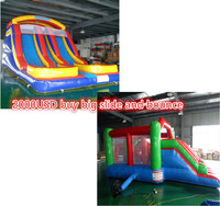 Factory Sale2000USD Big Slide And Bounce Combo Indoor Or Outdoor Use Playground Slides Sale