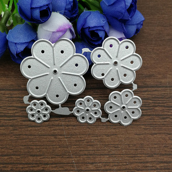 5pcs flower Metal Cutting Dies Stencils For DIY Scrapbooking Decorative Embossing Handcraft Die Cutting Template 1
