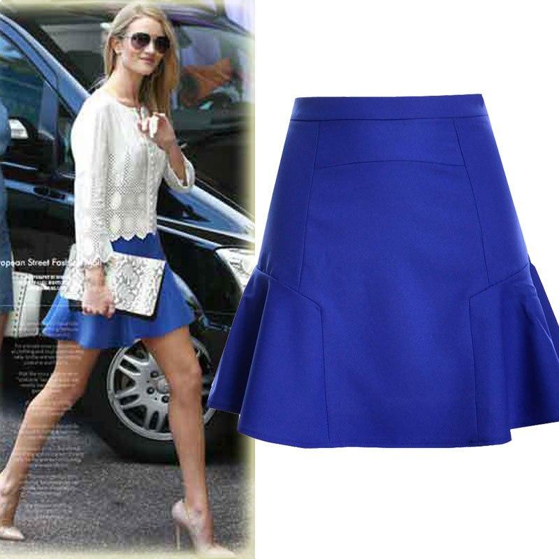 2016 Summer New Women high waist skirt stitching Mermaid skirt Women chiffon mini skirt Ball Gown