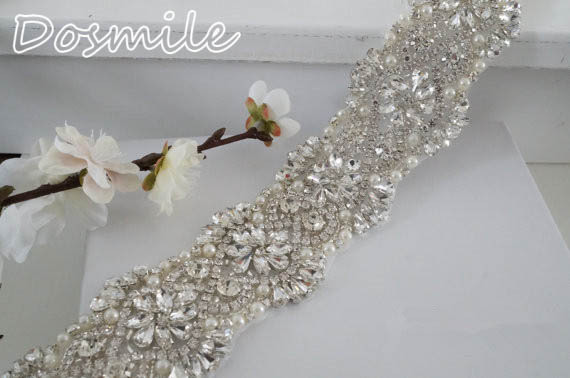 Free shipping Fashion rhinestone applique wedding belts and sashes crystal applique bridal belt for formal evening gowns dresses