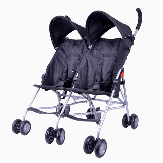 Los Gemelos Cochecito de Bebé plegable Ligero Cochecito Europeo Cochecito de Bebé Doble Direcciones de Viaje Portátil para 7-36 Meses Bebé