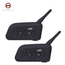 Motorcycle Bluetooth Intercom Interphone V6-1200 2PCS  Waterproof Motorcycle Automatic Receiving Of Mobile Phone Calls
