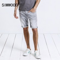 SIMWOOD 2019 Summer New Denim Shorts Slim Fit Men Clothes Brand Clothing Knee Length Plus Size High Quality 180197